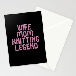 wife mom knitting legend Stationery Cards