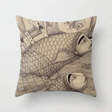 The Golden Fish (1) Throw Pillow