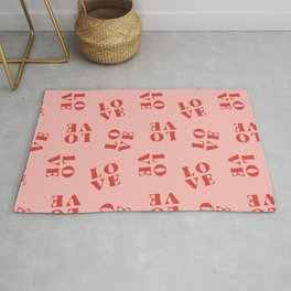 LOVE pattern Rug