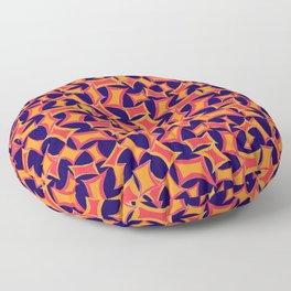 Retro-Inpsired Sugar Packets Geometric Pattern Floor Pillow