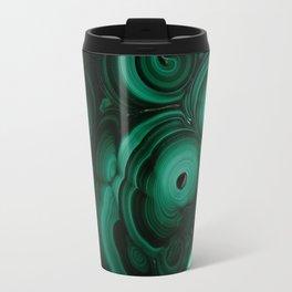 Curls and patterns of malachite Travel Mug