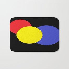 Red Yellow & Blue : Mod Circles Bath Mat