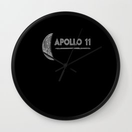 Apollo 11 1969 rocket space astronaut apollo Wall Clock