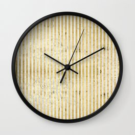 gOld stripes Wall Clock