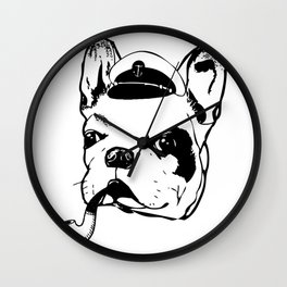Frenchie The Sailor Wall Clock