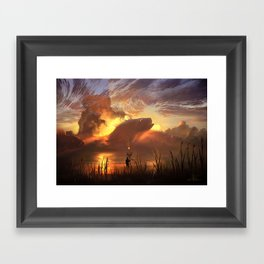 a world ruled by nature Framed Art Print