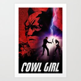 Cowl Girl Design by Stephen Bryant (concept: Dan Dougherty) Art Print