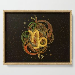 Capricorn Zodiac Sign Earth element Serving Tray