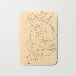 "Egon Schiele ""Woman and Girl Embracing"" Bath Mat"