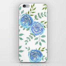 Blue roses or rosa symbolise secret or unattainable love iPhone Skin