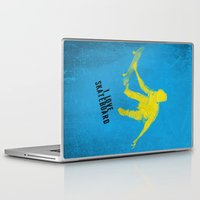 skateboard Laptop & iPad Skins featuring skateboard  by Easyposters