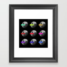 Moon languages of the world Framed Art Print