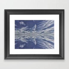 Reflective Clouds Framed Art Print