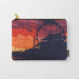 Sunset in Santa Monica, California Carry-All Pouch