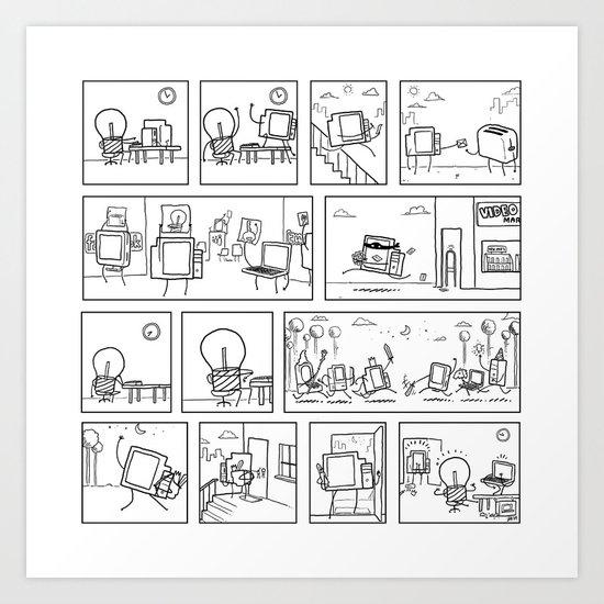 Computers Art Print