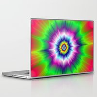 tie dye Laptop & iPad Skins featuring Explosive Tie-Dye by Objowl