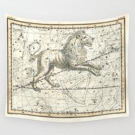 Leo Constellation - Celestial Atlas Plate 17 - Alexander Jamieson Wall Tapestry