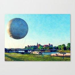 Cracow Wawel baloon Canvas Print