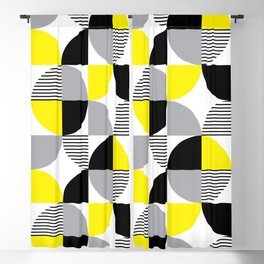 Colorful geometry 9 Blackout Curtain
