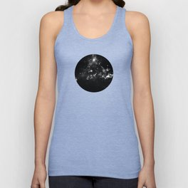 God's Window - Black And White Space Painting Unisex Tank Top