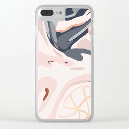 Elegant Zen Marbled Effect Design Clear iPhone Case