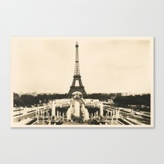 Eiffel Tower - Vintage Post card Canvas Print