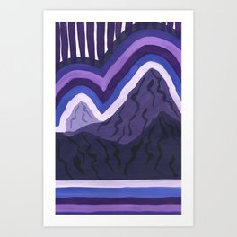 Purple Range Art Print