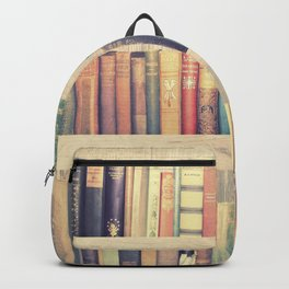Dream with Books - Love of Reading Bookshelf Collage Backpack