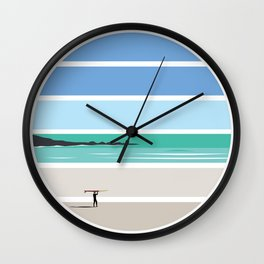 Tiree Longboarder Wall Clock