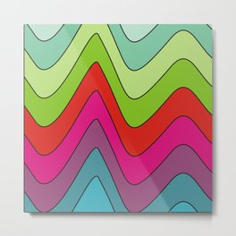 Colorful waves no.2 Metal Print