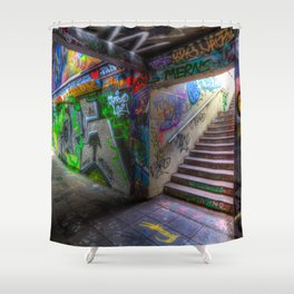 Leake Street London Graffiti Shower Curtain