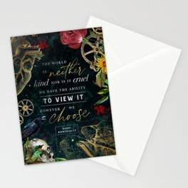 Neither kind nor cruel Stationery Cards