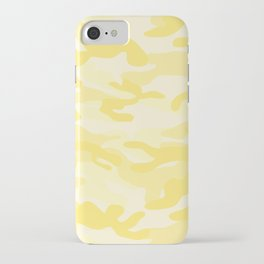 light Yellow Military Camouflage Pattern iPhone Case