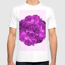 Peony Flower On A Pink Background #decor #society6 #buyart T-shirt