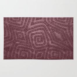 Burgundy Spiral Diamond Pattern Rug