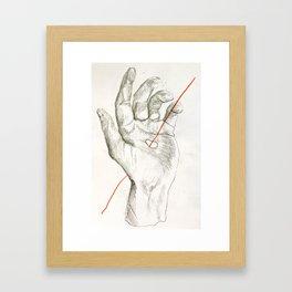 Red Line I Framed Art Print