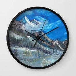 Cloudy Mountaintop Wall Clock