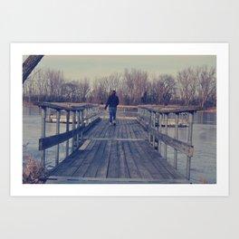 Frozen Dock Art Print