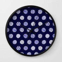 indigo dots Wall Clock