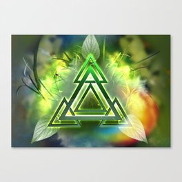 Sacred Geometry - Equilateral Triangle 05 Canvas Print