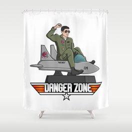 Danger Zone Shower Curtain