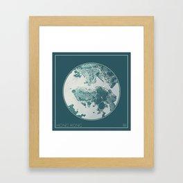 Hong Kong Map Planet Framed Art Print