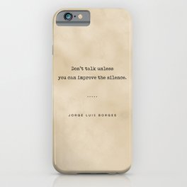 Jorge Luis Borges Quote 04 - Typewriter Quote on Old Paper - Minimalist Literary Print iPhone Case