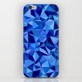 Blue tile mosaic iPhone Skin