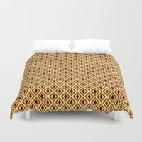 70s Duvet Covers featuring 70s Pattern by Ryan Winters