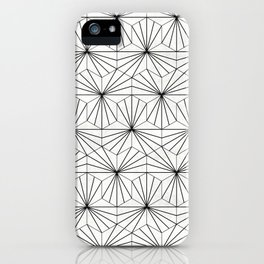 Hexagonal Pattern - White Concrete iPhone Case