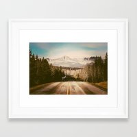 the mountains are calling Framed Art Prints featuring the mountains are calling by Leanne Taylor Collection