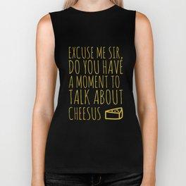 Funny Jesus Sarcasm Sarcastic Cheese Lover Gift Biker Tank