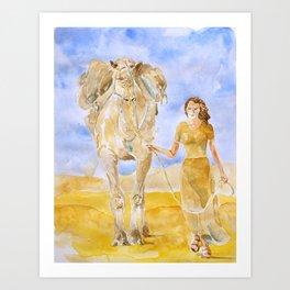Leaving Dubai Art Print
