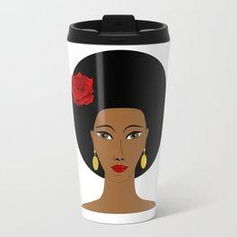 Afro Queen Travel Mug